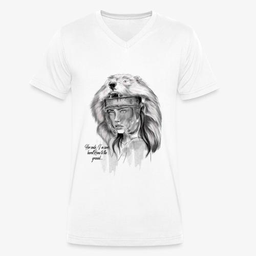 Her Smile... - Økologisk Stanley & Stella T-shirt med V-udskæring til herrer