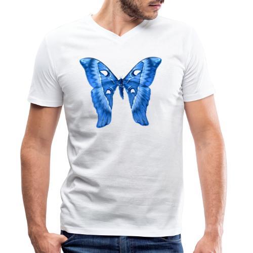 Herkules Falter Blau - Männer Bio-T-Shirt mit V-Ausschnitt von Stanley & Stella