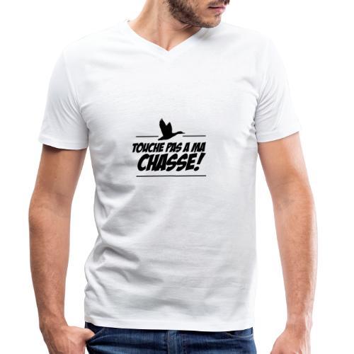 touche pas a ma chasse ! Motif canard - T-shirt bio col V Stanley & Stella Homme