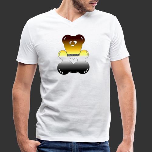 BAERENLUSTiger bäriger Regenbogen Bär - Männer Bio-T-Shirt mit V-Ausschnitt von Stanley & Stella