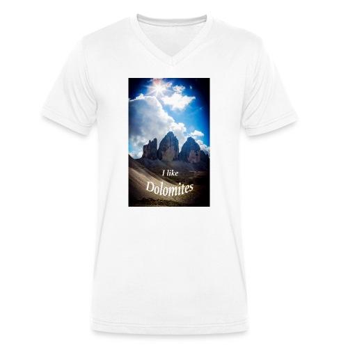 I like Dolomites Kopie - Männer Bio-T-Shirt mit V-Ausschnitt von Stanley & Stella