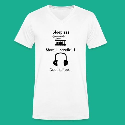 Sleepless - Männer Bio-T-Shirt mit V-Ausschnitt von Stanley & Stella