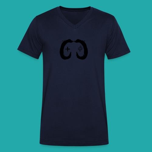 Crowd Control Controller Logo Black Large - Men's Organic V-Neck T-Shirt by Stanley & Stella