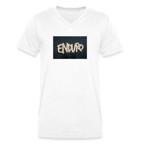 Koszulka z logiem Enduro. - Ekologiczna koszulka męska z dekoltem w serek Stanley & Stella