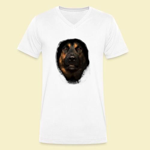Schäferhund Portrait - Männer Bio-T-Shirt mit V-Ausschnitt von Stanley & Stella