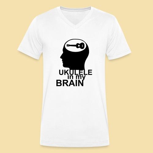 Ukulele in my brain - Männer Bio-T-Shirt mit V-Ausschnitt von Stanley & Stella