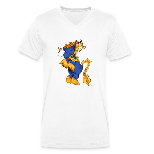 Quilin / Kirin - Männer Bio-T-Shirt mit V-Ausschnitt von Stanley & Stella