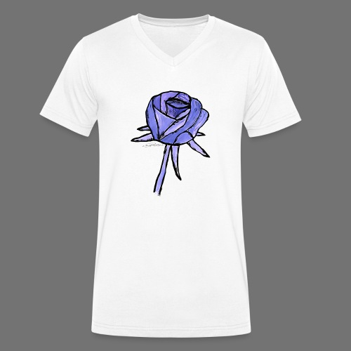 Rose blue sixnineline style - Men's Organic V-Neck T-Shirt by Stanley & Stella