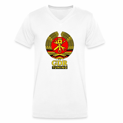 GDR Tuning Coat of Arms 3c - Men's Organic V-Neck T-Shirt by Stanley & Stella