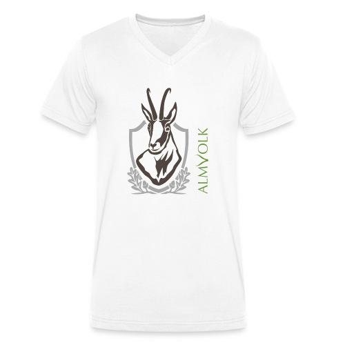 Kochschürze ALMVOLK Gamskopf - Männer Bio-T-Shirt mit V-Ausschnitt von Stanley & Stella