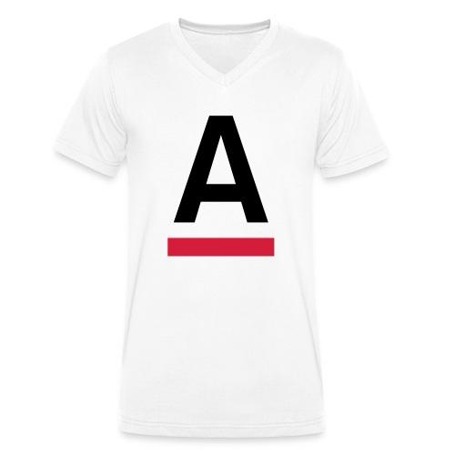 Alliansfritt Sverige A logo 2013 Färg - Ekologisk T-shirt med V-ringning herr från Stanley & Stella
