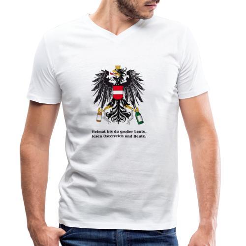 Heimat bst du grosser Leute - Männer Bio-T-Shirt mit V-Ausschnitt von Stanley & Stella