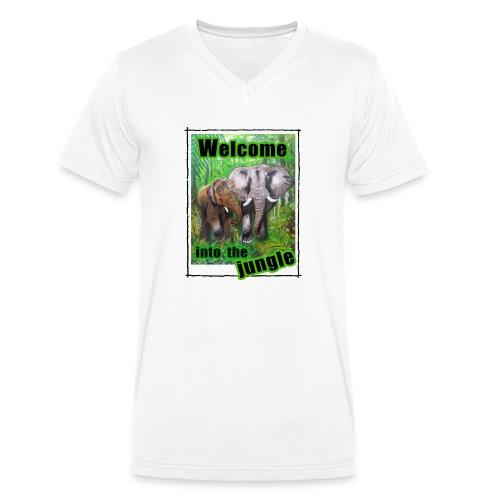 Willkommen im Dschungel - Männer Bio-T-Shirt mit V-Ausschnitt von Stanley & Stella