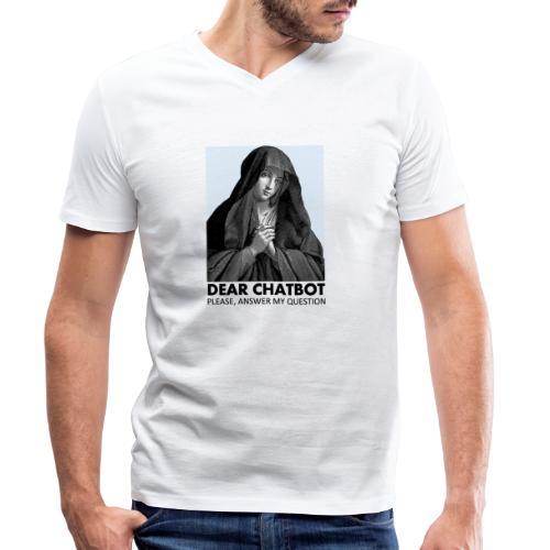 Prière de chatbot - T-shirt bio col V Stanley & Stella Homme
