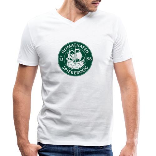 Heimathafen Logo Grün - Männer Bio-T-Shirt mit V-Ausschnitt von Stanley & Stella