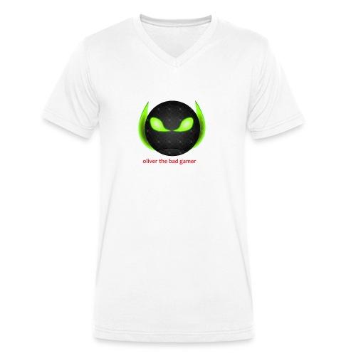 oliver_the_bad_gamer-png - Ekologisk T-shirt med V-ringning herr från Stanley & Stella