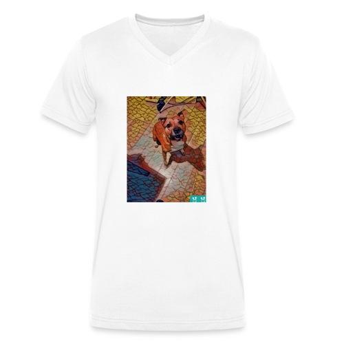 Foxy in kleur - Mannen bio T-shirt met V-hals van Stanley & Stella
