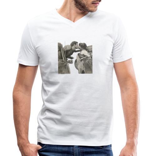 Travel - Camiseta ecológica hombre con cuello de pico de Stanley & Stella