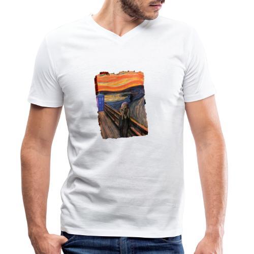 Screaming Tardis - Men's Organic V-Neck T-Shirt by Stanley & Stella