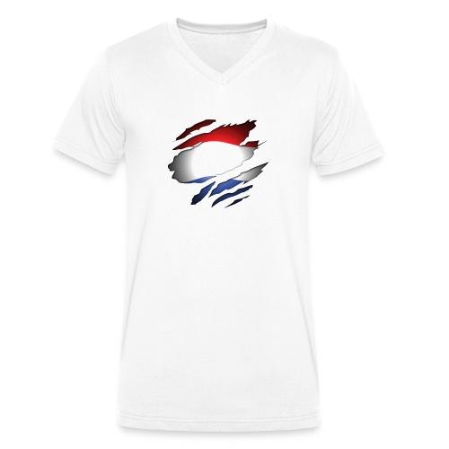 Dutch Inside: Vlag - Mannen bio T-shirt met V-hals van Stanley & Stella