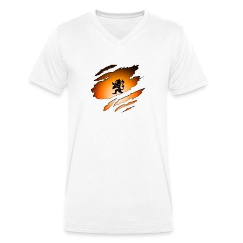 Dutch Inside: Leeuw - Mannen bio T-shirt met V-hals van Stanley & Stella