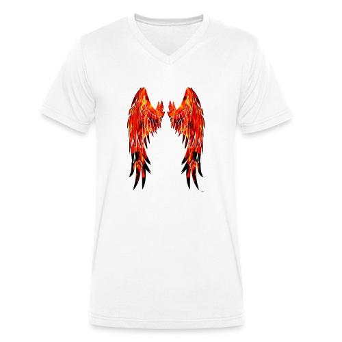 Fire wings - Camiseta ecológica hombre con cuello de pico de Stanley & Stella
