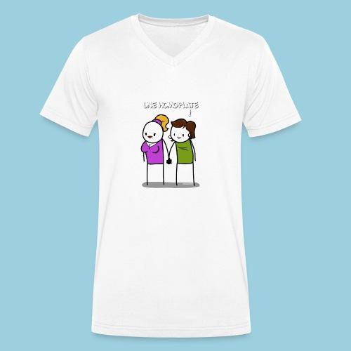 Homoplate blanc - T-shirt bio col V Stanley & Stella Homme