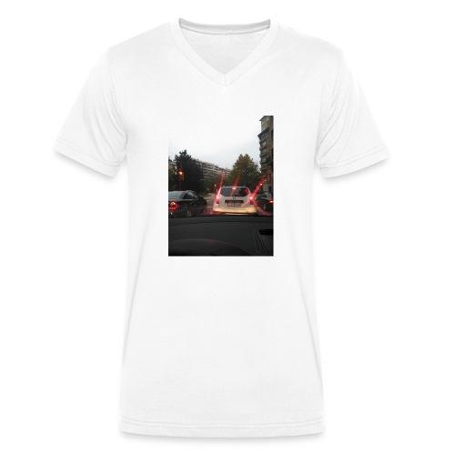 camiseta moderna - Camiseta ecológica hombre con cuello de pico de Stanley & Stella