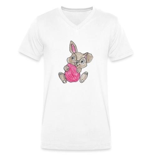 Hop der Hase - Männer Bio-T-Shirt mit V-Ausschnitt von Stanley & Stella