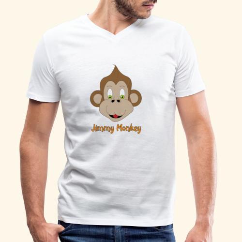 monkey green eyes - T-shirt bio col V Stanley & Stella Homme