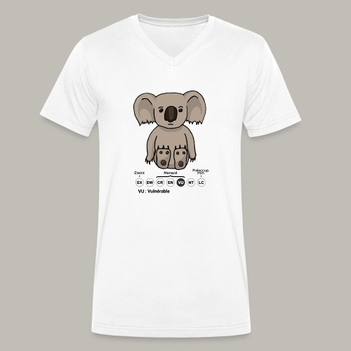 Koala & Co - T-shirt bio col V Stanley & Stella Homme
