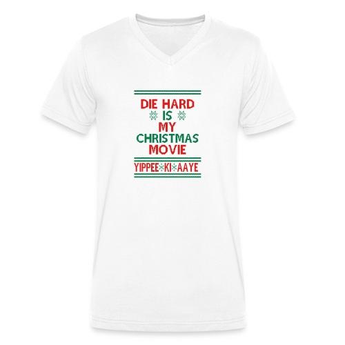 Die Hard Its Not Christmas - Stanley & Stellan miesten luomupikeepaita
