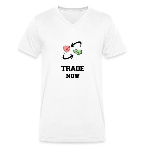 TradeNow - Männer Bio-T-Shirt mit V-Ausschnitt von Stanley & Stella