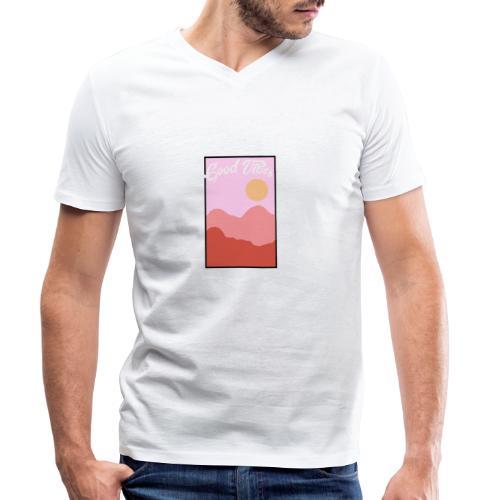Good vibes - Mannen bio T-shirt met V-hals van Stanley & Stella
