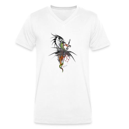Dragon Sword - Drachenkampf - Männer Bio-T-Shirt mit V-Ausschnitt von Stanley & Stella