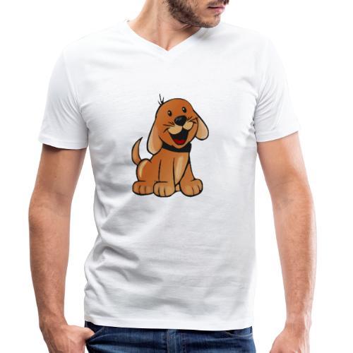 cartoon dog - T-shirt ecologica da uomo con scollo a V di Stanley & Stella