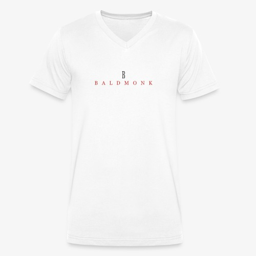 Baldmonk Classic Logo - Men's Organic V-Neck T-Shirt by Stanley & Stella