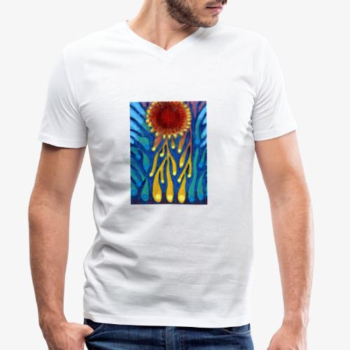 Chore Słońce - Ekologiczna koszulka męska z dekoltem w serek Stanley & Stella