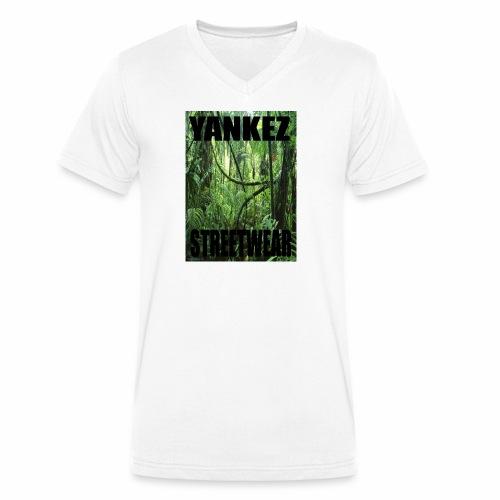 Yankez Backprint Jungle - Männer Bio-T-Shirt mit V-Ausschnitt von Stanley & Stella