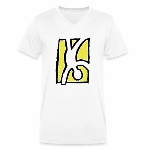 Capoeira: Hand stand - Men's Organic V-Neck T-Shirt by Stanley & Stella