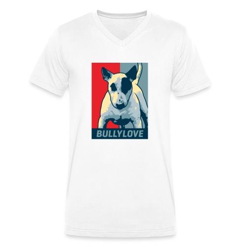 Bullterrier - Männer Bio-T-Shirt mit V-Ausschnitt von Stanley & Stella