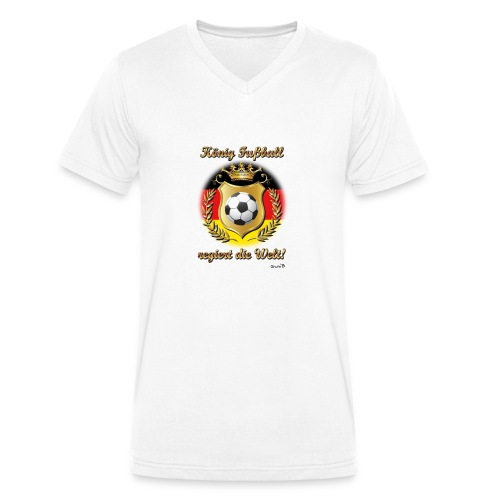 König Fussball03 - Männer Bio-T-Shirt mit V-Ausschnitt von Stanley & Stella