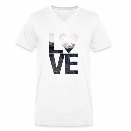 L.O.V.E - Mountains - Männer Bio-T-Shirt mit V-Ausschnitt von Stanley & Stella