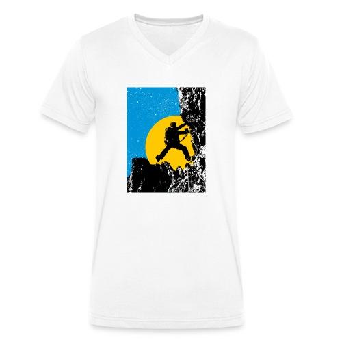 Klettersteig - Männer Bio-T-Shirt mit V-Ausschnitt von Stanley & Stella