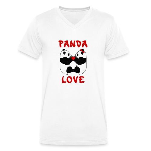 Panda Love - Men's Organic V-Neck T-Shirt by Stanley & Stella