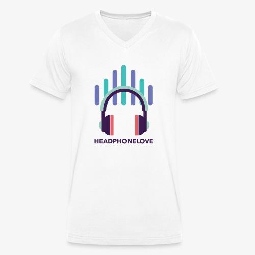 headphonelove - Männer Bio-T-Shirt mit V-Ausschnitt von Stanley & Stella