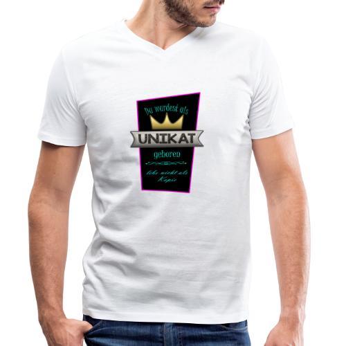 Unikat - Männer Bio-T-Shirt mit V-Ausschnitt von Stanley & Stella