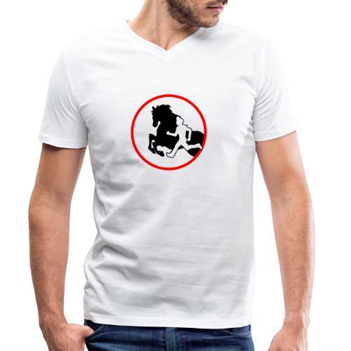 Horse Agility Logo - Männer Bio-T-Shirt mit V-Ausschnitt von Stanley & Stella