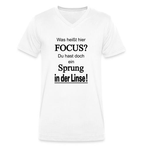 Was heißt hier Focus? Du hast Sprung in der Linse! - Männer Bio-T-Shirt mit V-Ausschnitt von Stanley & Stella