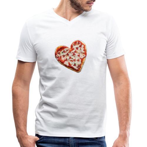 Pizza a cuore - T-shirt ecologica da uomo con scollo a V di Stanley & Stella